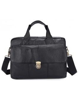 Черная кожаная сумка мужская Vintage 14801