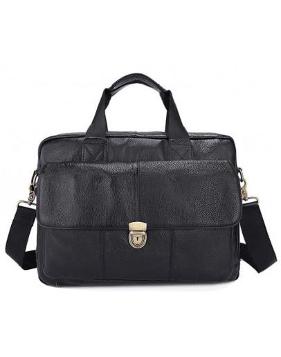 Фотография Черная кожаная сумка мужская Vintage 14801