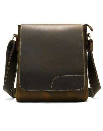Фотография Мужская матовая винтажная сумка на плечо Vintage 14804