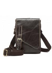 Мужская коричневая небольшая сумка на плечо Vintage 14810