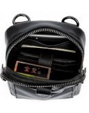 Фотография Мужская компактная кожаная черная сумка Vintage 14811
