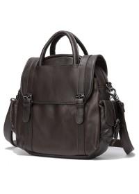 Коричневая женская кожаная сумка - трансформер Vintage 14812