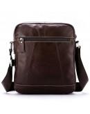 Фотография Мужская коричневая кожаная сумка Vintage 14823