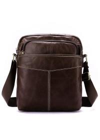 Мужская коричневая кожаная сумка Vintage 14823