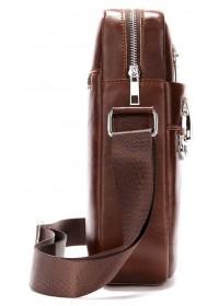 Сумка мужская на плечо коричневая Vintage 14825