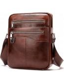 Фотография Сумка мужская на плечо коричневая Vintage 14825