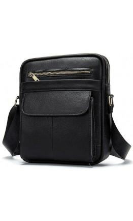 Черная кожаная сумка на плечо Vintage 14827
