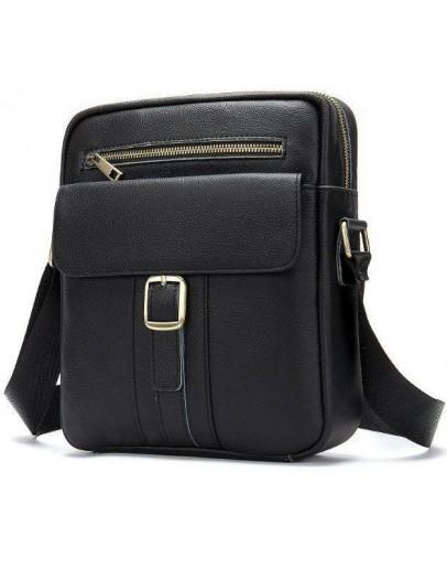 Фотография Мужская черная сумка на плечо Vintage 14828