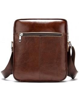 Сумка мужская на плечо коричневая Vintage 14829