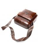 Фотография Сумка мужская на плечо коричневая Vintage 14829
