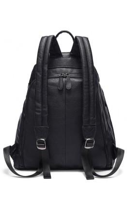 Черный кожаный удобный рюкзак Vintage 14831