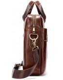 Фотография Коричневая кожаная сумка для документов Vintage 14836
