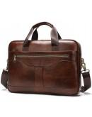 Фотография Сумка мужская деловая коричневая Vintage 14837