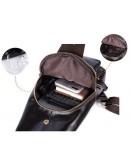 Фотография Кожаный мужской слинг темно-коричневый Vintage 14838