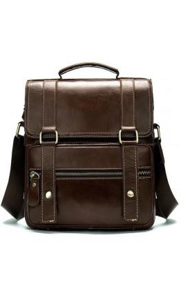 Коричневая мужская деловая сумка Vintage 14841