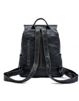Черный кожаный рюкзак Vintage 14842