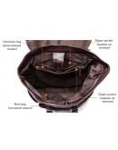 Фотография Черный кожаный рюкзак Vintage 14842