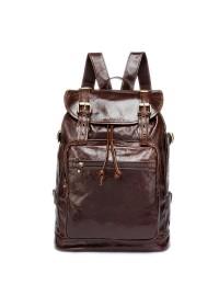 Коричневый винтажный мужской кожаный рюкзак Vintage 14843