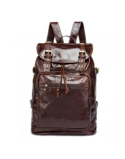 Фотография Коричневый винтажный мужской кожаный рюкзак Vintage 14843