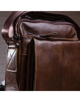 Мужская коричневая кожаная сумка Vintage 14846