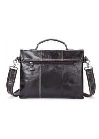 Мужская коричневая кожаная сумка Vintage 14854