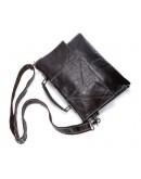 Фотография Мужская коричневая кожаная сумка Vintage 14854
