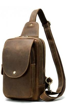 Коричневый мужской слинг винтажный Vintage 14855