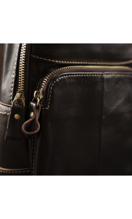 Мужской кожаный коричневый слинг Vintage 14858