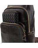 Фотография Мужской кожаный коричневый слинг Vintage 14858
