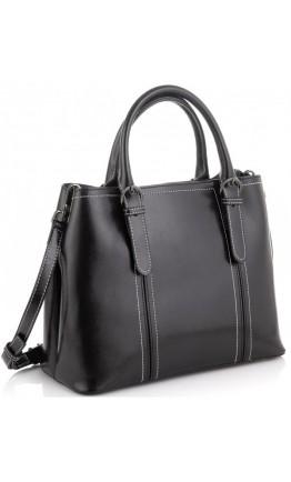 Черная женская кожаная сумка Vintage 14861