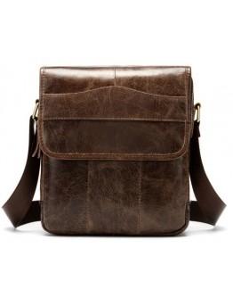Коричневая сумка на плечо мужская Vintage 14863