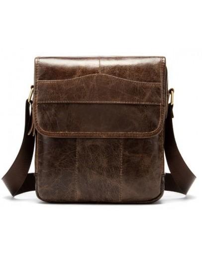 Фотография Коричневая сумка на плечо мужская Vintage 14863