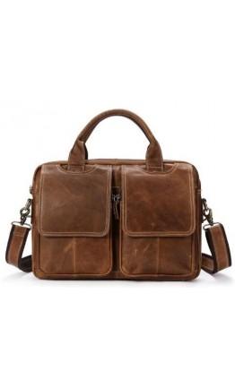 Мужская сумка кожаная коричневая Vintage 14867