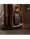 Фотография Коричневый мужской кожаный слинг Vintage 14873