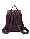Фотография Мужской серо-коричневый кожаный рюкзак Vintage 14874