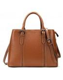 Фотография Коричневая женская кожаная сумка Vintage 14875