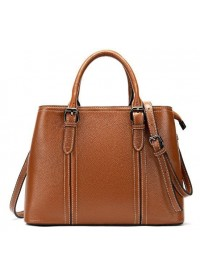 Коричневая женская кожаная сумка Vintage 14875
