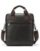 Фотография Серо-коричневая сумка кожаная формата А4 Vintage 14876