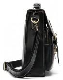 Фотография Черный мужской кожаный портфель Vintage 14878