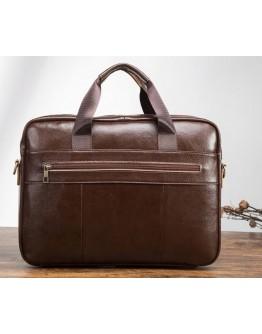 Мужская коричневая сумка под документы Vintage 14882