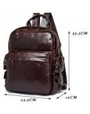 Фотография Коричневая удобная мужская кожаная сумка Vintage 14889