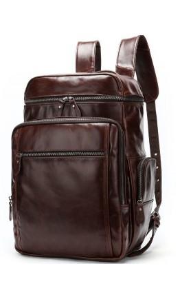 Вместительный мужской кожаный рюкзак Vintage 14892