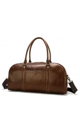 Коричневая кожаная сумка для командировок Vintage 14896
