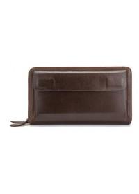 Коричневый кожаный мужской клатч Vintage 14915