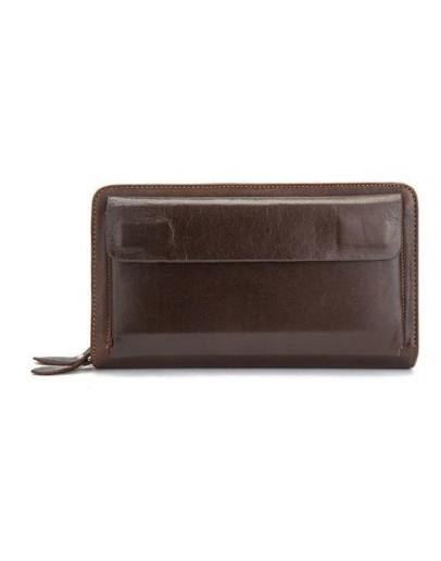 Фотография Коричневый кожаный мужской клатч Vintage 14915