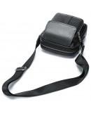 Фотография Мужская маленькая сумка кожаная черная Vintage 14943