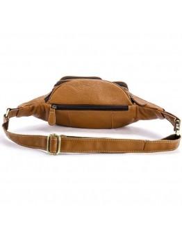 Поясная рыжая кожаная сумка на пояс Vintage 14944