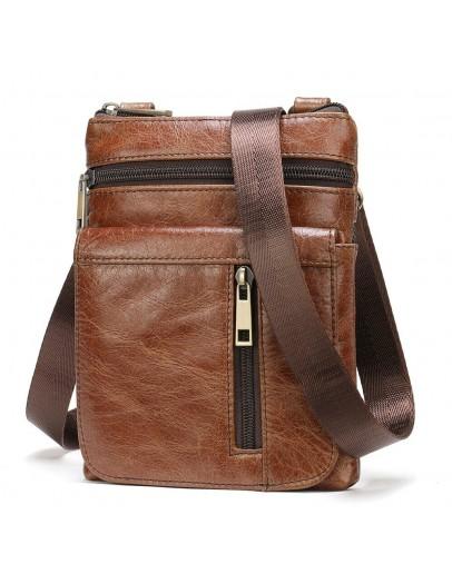 Фотография Небольшая коричневая мужская сумка Vintage 14989