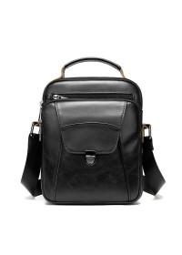 Черная мужская сумка в руку и на плечо Vintage 14995