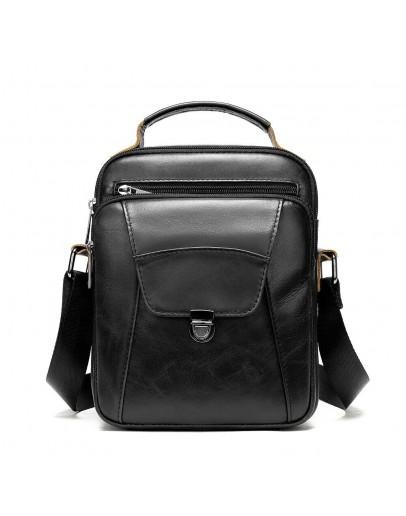 Фотография Черная мужская сумка в руку и на плечо Vintage 14995